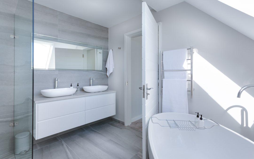 De betonlook in de badkamer